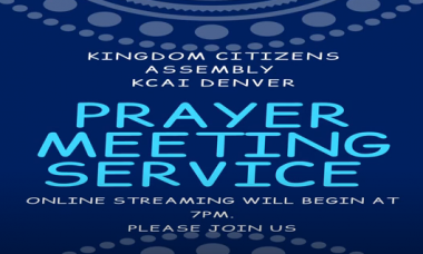 Prayer Meeting Service May 1, 2020
